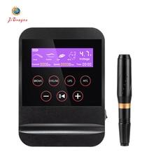 VX Digital Permanent Makeup Machine Portable Pen Tattoo Machine Rotary Tattoo Gun Kit Eyebrow Lip MTS Machine