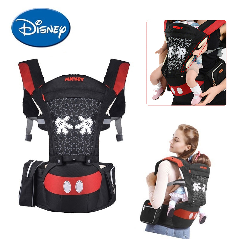Disney Baby Carrier Infant Ergonomic Front Facing Carrier Multifunctional Baby Hipseat Kids Outdoor Activity Disney Accessories