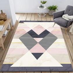 Dywany dla pokoju gościnnego Nordic proste sypialnia dywan Home Decor Sofa stolik dywanik podłogowy uczyć się maty podłogowe jadalnia maty