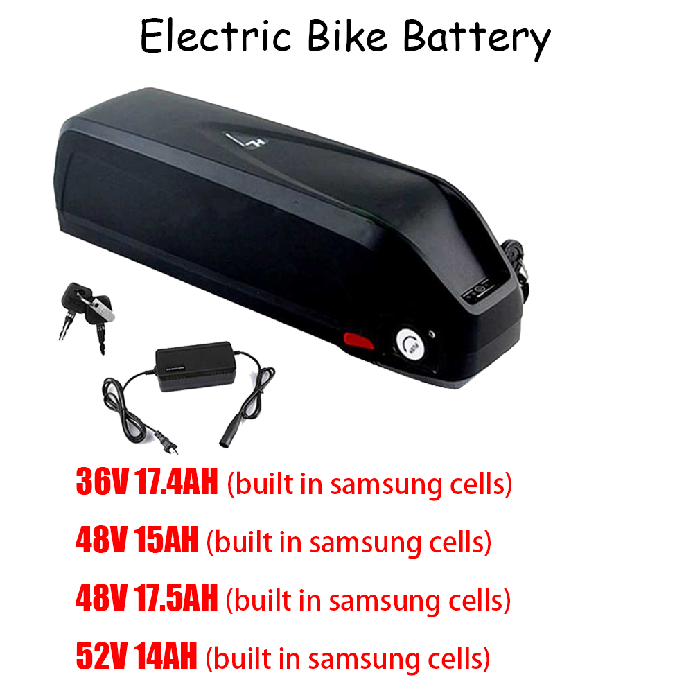 36V 17.4Ah 48V 15Ah/17.5Ah <font><b>52V</b></font> 14Ah Electric Bike <font><b>Battery</b></font> Pack built in Samsung 18650 e bike <font><b>battery</b></font> bafang Mid motor kit image