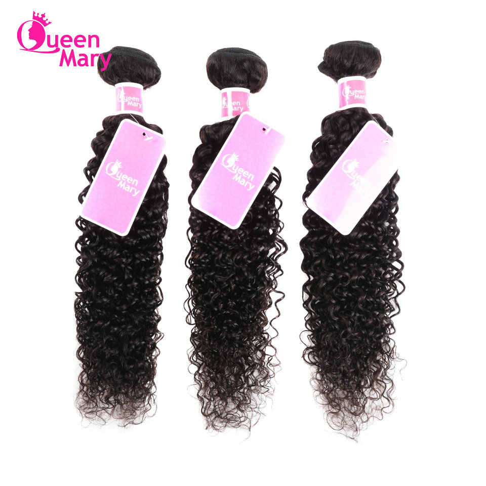 Peruvian Kinky Curly Bundles 100% Human Hair Weave Bundles 3/4 Pcs/Lot Human Hair Extensions Queen Mary Non-Remy Hair Weaving