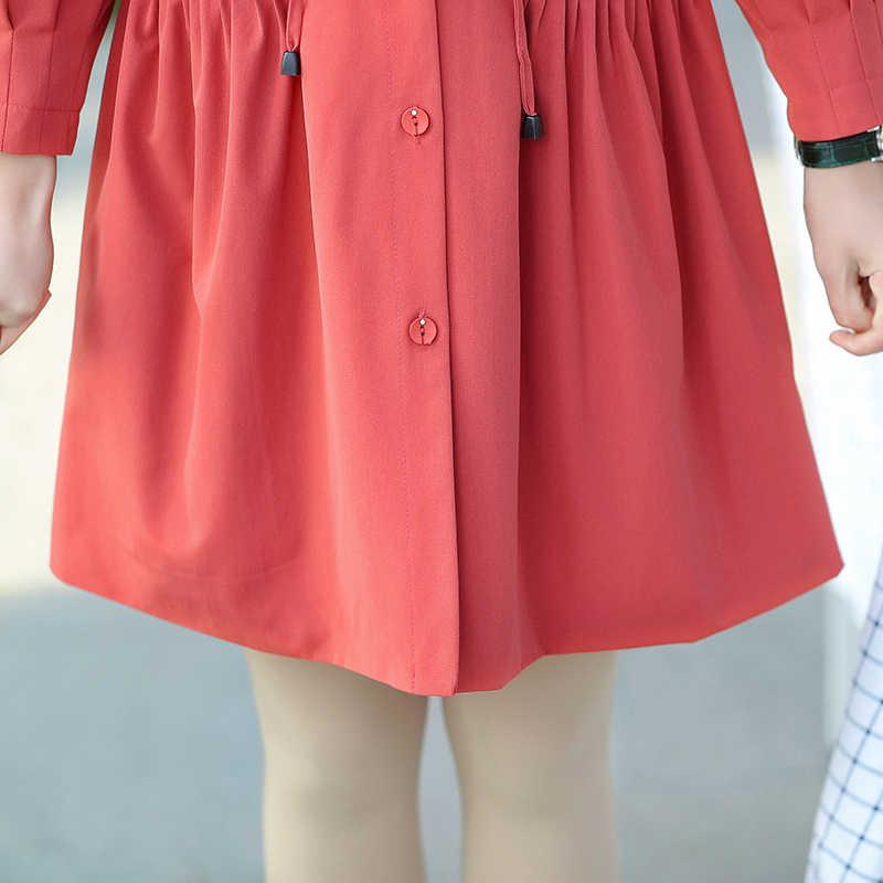 Gabardina joker cómoda de talla grande a la moda informal ajustada para mujer con cinturón de color sólido para primavera y otoño