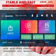 3/6 meses 1 año Abonnement IPTV Nederland Polonia europa caliente xxx para Smartphone H96 X96 10 Android TV Box IPTV Smart TV acosador