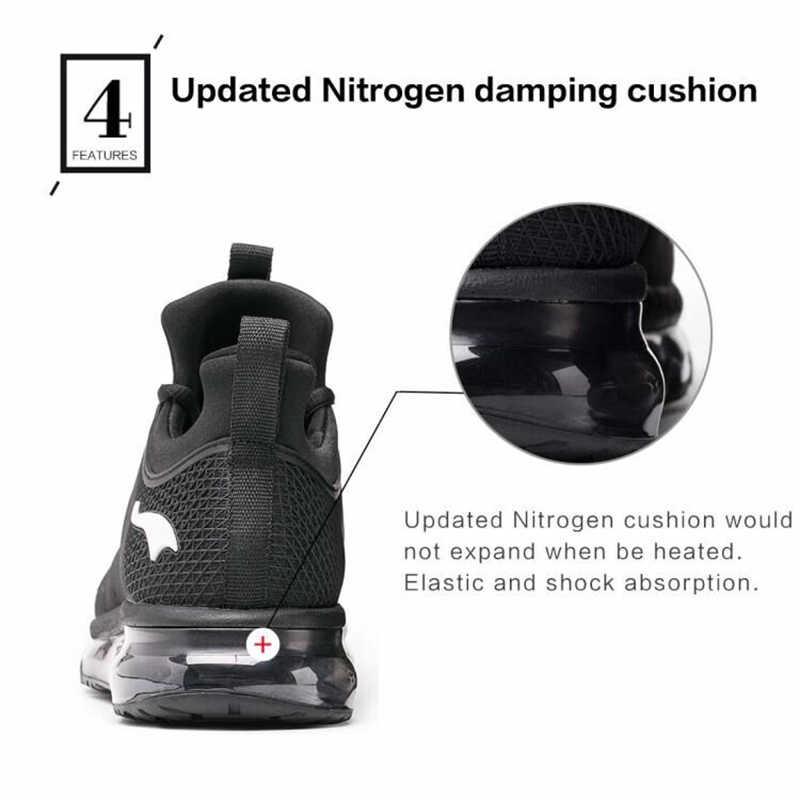Gran oferta 2018 nuevas zapatillas de correr para hombre con almohadillas de aire alto zapatillas deportivas ligeras para Fitness al aire libre zapatillas DHL envío gratis