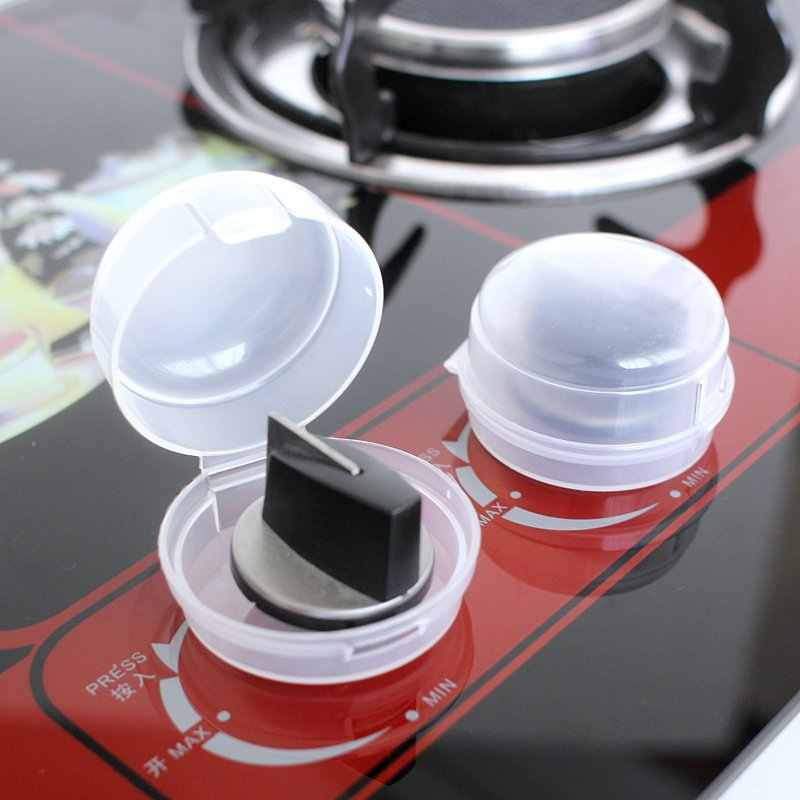 2pcs Gas Stove Knob Cover Protector Baby Kitchen Safety Children Protection Lid Oven Lock