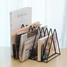 Oficina  file storage box magazine desktop storage rack magazine rack office organizer органайзер для документов