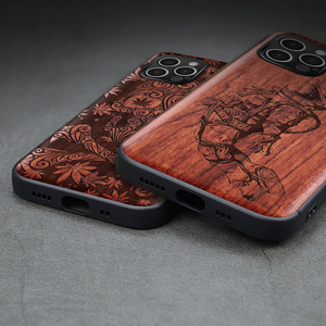 Image 3 - Carveit עבור iPhone 12 מיני פרו מקס אמיתי עץ מקרה רטרו מגולף אביזרי כיסוי מקורי עץ מעטפת דק רך egde טלפון גוף