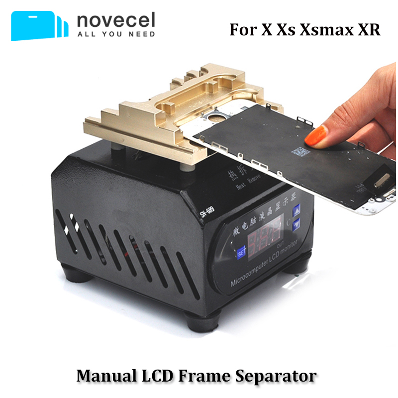 NOVECEL 220V/110V LCD Separating Manually Operated Machine Hot Plate To Separate Frame For IPhone X Xs Xsmax Xr