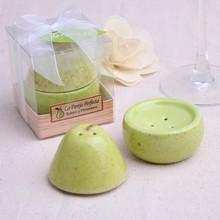 5 компл./лот)+ идеальная пара Керамическая груша соль и перец шейкер набор Свадебные приправа горшок сувениры для девичника