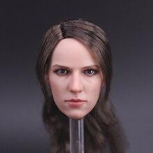 Coleção 1/6 escala quiet figura cabeças esculpir boneca cabeça feminina cinzelando filme brinquedos fãs acessórios de presente