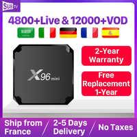 X96 mini Android 7.1 IPTV francja pudełko 1 rok SUBTV kod arabski niemcy IPTV Box X96mini IPTV Box belgia turecki portugalia szwecja