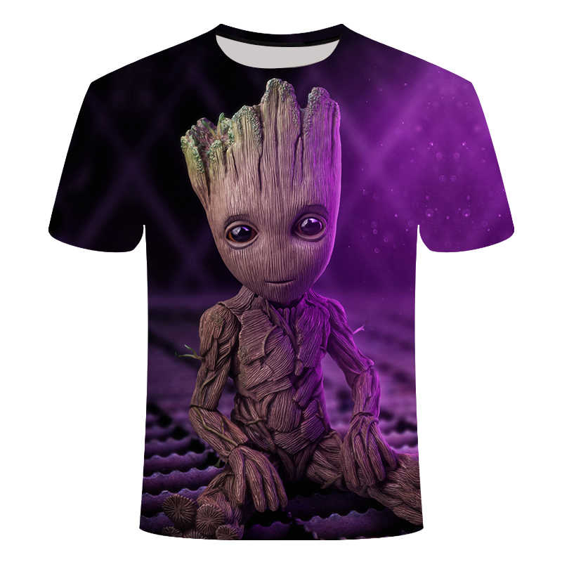 Groot T Shirts Tees Mannen Unisex X planeet monarch Bounty Hunter Superhero Movie guardians of the galaxy funny Novelty 3d t-shirt
