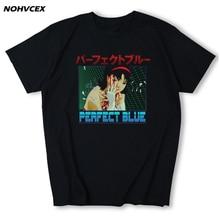 Perfect Blue Junji Ito Anime Japanese Design Summer Cotton  Men T Shirt