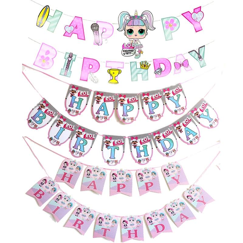 Оригинальные товары для вечеривечерние Lol Surprise Omg темы для дня рождения вечеринки Натяжной флаг баннер украшения для мероприятий подарки дл...