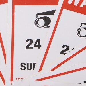 Image 5 - משלוח חינם 10 יח\חבילה PVC טלוויזיה במעגל סגור מעקב וידאו אבטחה מדבקת סימני אזהרה