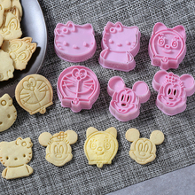 Biscuit Cutter Mold Decorating-Tools Chocolate Animal Sugarcraft Plastic Cartoon 3D 2pcs