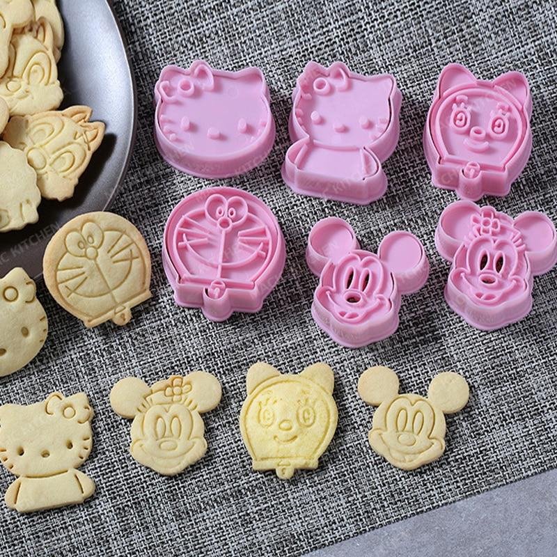 3D forma do herbatników Cute Cartoon zwierząt plastikowe zakrzywione forma do ciastek Sugarcraft narzędzia do dekorowania czekolady 2 sztuk foremki do ciastek formy