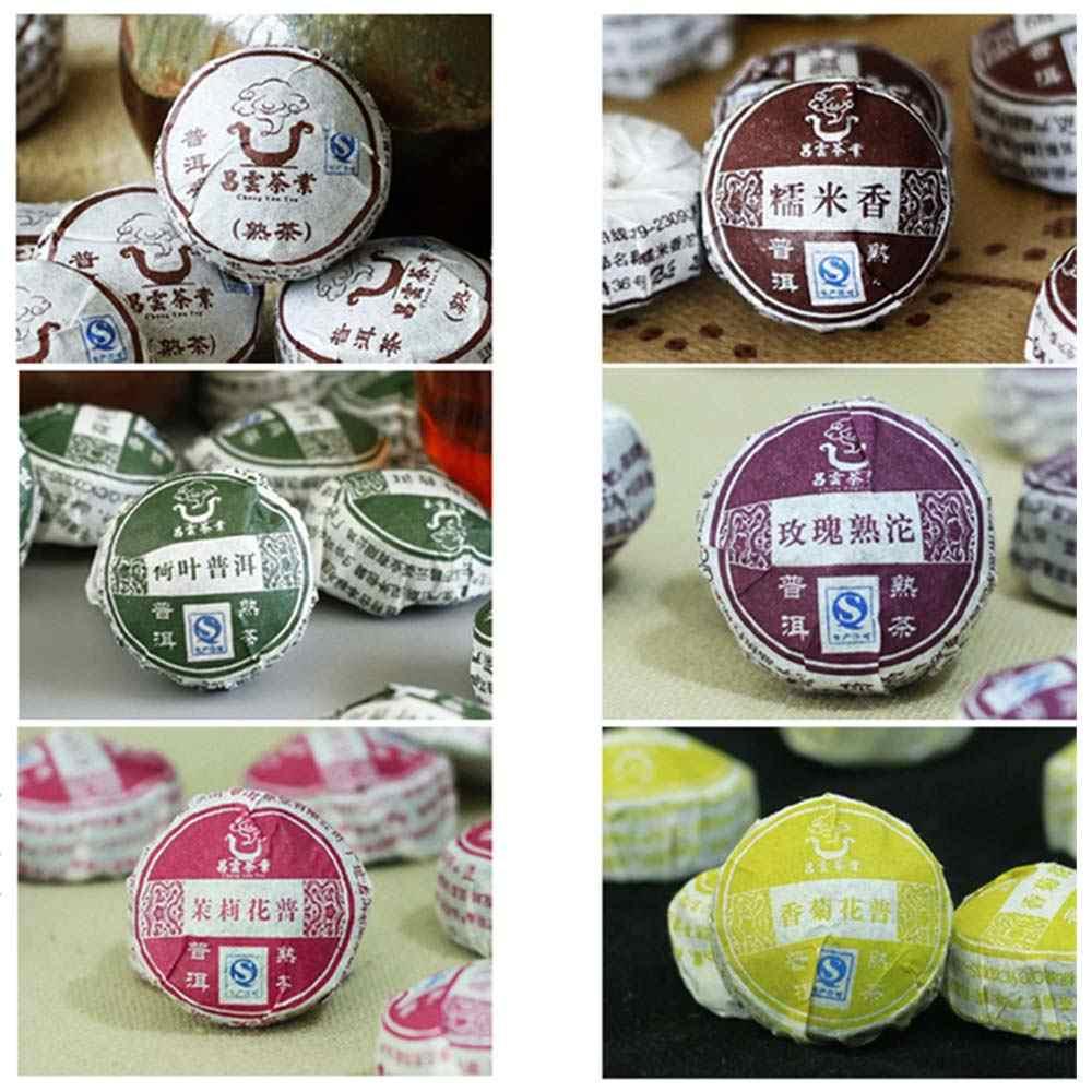 50pcs รสชาติที่แตกต่างกันจีนยูนนานเก่าสุกชาสุขภาพ Care Pu'er ชาอิฐสำหรับลดน้ำหนักชา