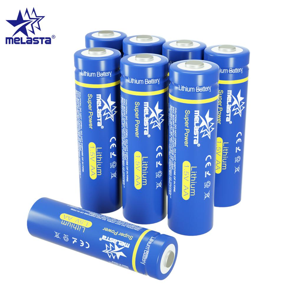 Melasta 8pcs AA 1.5V 2900mAh lifes2 FR6 FR14505 Lithium dry Battery for toys MP3 camera electric shaver toothbrush remote clock image
