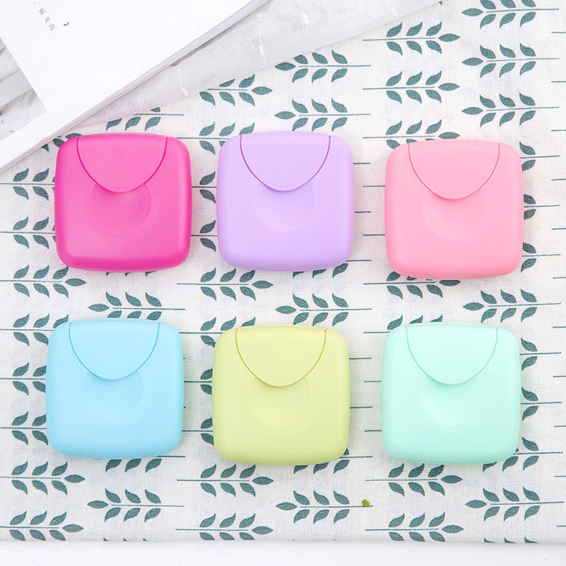 ETya Women Men Soap Holder Box Bag Travel Creative Soap  Cosmetic Cotton Cleaning Cotton Pad  Tampons Storage Box Holder Case