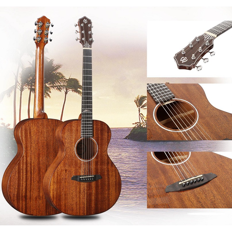 <font><b>36</b></font> inch wooden <font><b>guitar</b></font> play matt wood cutaway <font><b>guitar</b></font> travel 36inch Solid Wood <font><b>guitar</b></font> travel Children <font><b>guitar</b></font> unisex shell inlay image