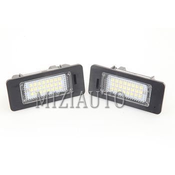 2 pcs LED Number License Plate Lamp For BMW E39 E60 E60N E61 E90 E91 E90N E92 E93 E46 CSL E82 Number License light Car Auto image