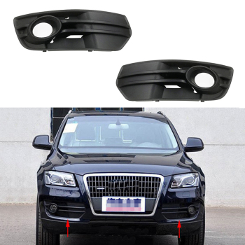 цена на Auto Left Right Front Bumper Fog Light Grille Grill Cover for AUDI Q5 8R 2009-2012 8R0807681A 8R0807682A