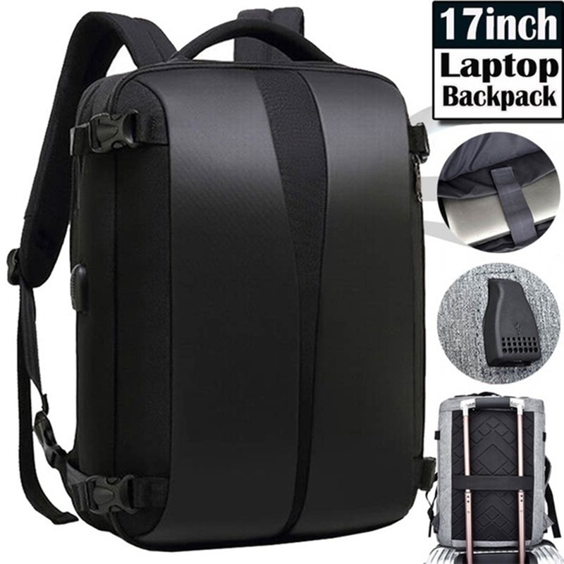 New 17-inch Fashion Men's Laptop Business Backpack Travel Waterproof And Anti-theft Backpack With USB Charging And Lock