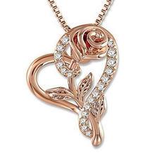 Модное роскошное романтическое ожерелье с розовым Цирконом для