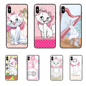 Black Soft TPU Live Love Phone For Galaxy S20 S10e S10 S9 S8 S7 S6 S5 edge Lite Plus Ultra Worlds Aristocats Marie image
