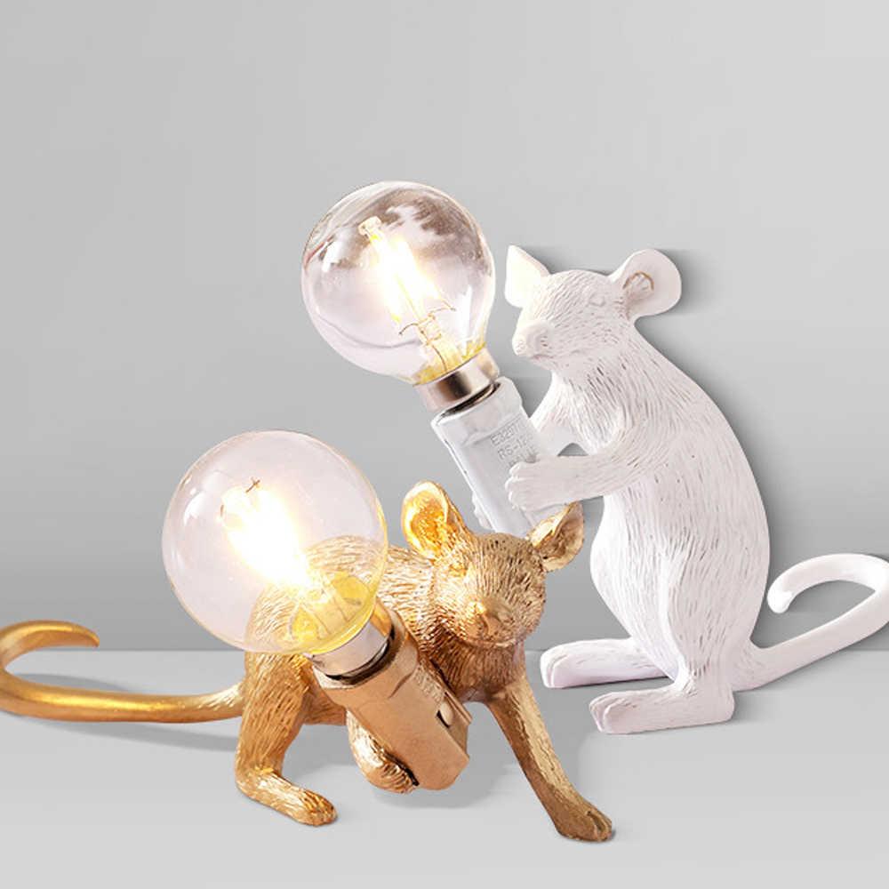 Lampada Da Tavolo Retro In Resina Con Topo Animale Topo Piccolo Mini Mouse Carino Luci Notturne A Led Lampada Da Comodino Home Office Desk Decor Lampade Da Tavolo Aliexpress