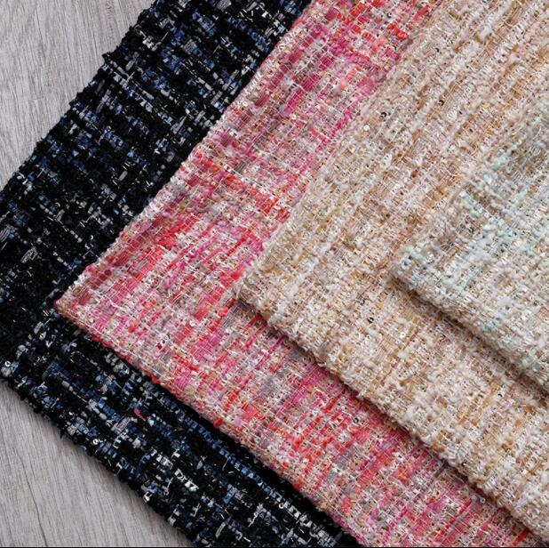 4style Woolen tweed soft nylon Fabric dress coat sewing patch textiles diy polyester tissu cloth fabric C868