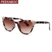 Peekaboo tortoise female sunglasses cat eye white black leopard uv400 retro sun