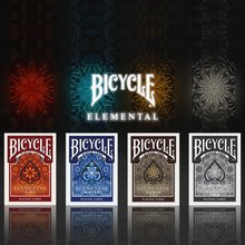 Bicycle Fire Elemental Series Playing Cards Fire Wind Earth Collectable Poker Limited Edition Deck Magic Card Magic Tricks Props стоимость