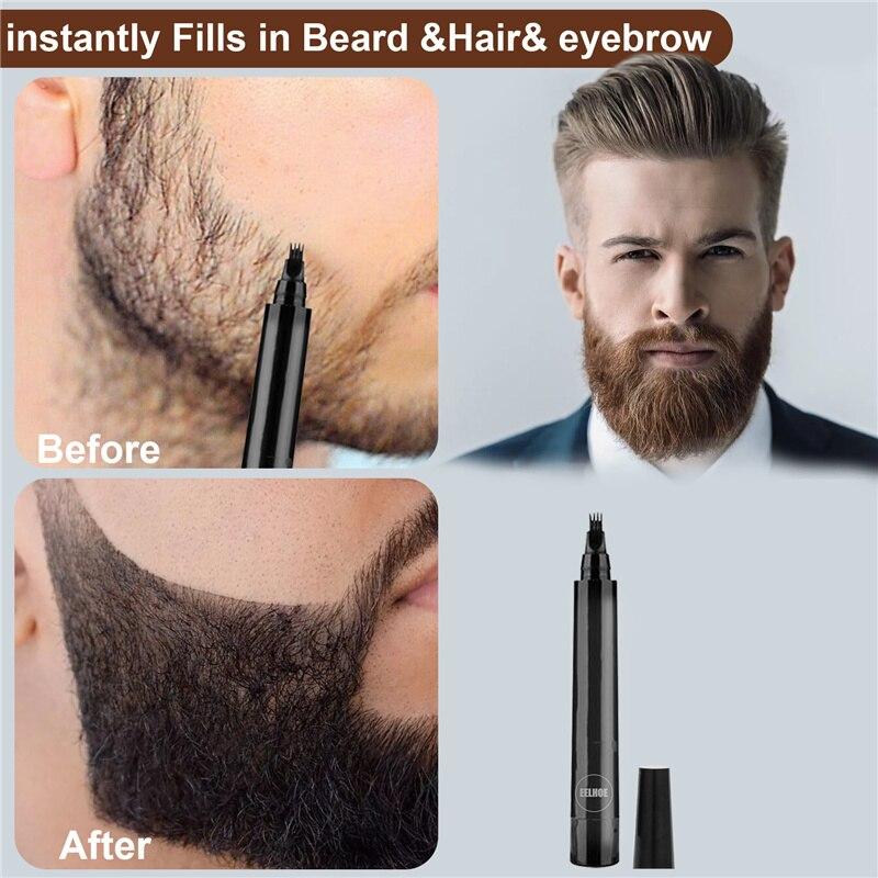 Beard Filling Pen Kit Beard Pencil Filler Waterproof Moustache Pen Beard Brush Beard Enhancer Moustache Coloring Shaping Tools