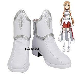 Ботинки на плоской подошве в стиле аниме SAO yuki Asuna, ботинки для косплея по индивидуальному заказу