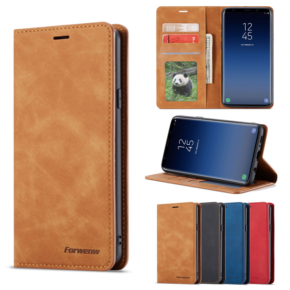 Flip Cover Wallet Luxury Leather Phone Case For Samsung Galaxy S9 Plus Card Stand GalaxyS9 S9Plus SM G960 G965 SM G965F SM G960F-in Wallet Cases from Cellphones & Telecommunications
