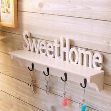 Wall Hanging Wood wieszak na klucze uchwyt klucz do domu haki drewniany wieszak na kurtki dekoracje ścienne organizator prostokąt dekoracja domu pokój Rack tanie tanio ANENG CN (pochodzenie) litera crochet bathroom accessories hanger key holder hooks