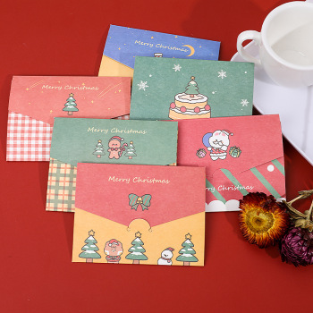 Christmas Envelope Greeting Card Blessing Card Folding Postcard Message Thanksgiving Card Invitation Letter Diy Christmas Gift 30 pcs lot european aristocrats letters greeting card postcard birthday greeting card letter envelope gift card set message card