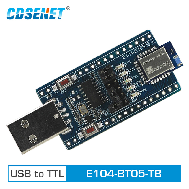 E104 BT05 TB USB to TTL Test Board TLSR8266 2.4GHz BLE4.2 UART Wireless Transceiver Module Bluetooth Transmitter Receiver