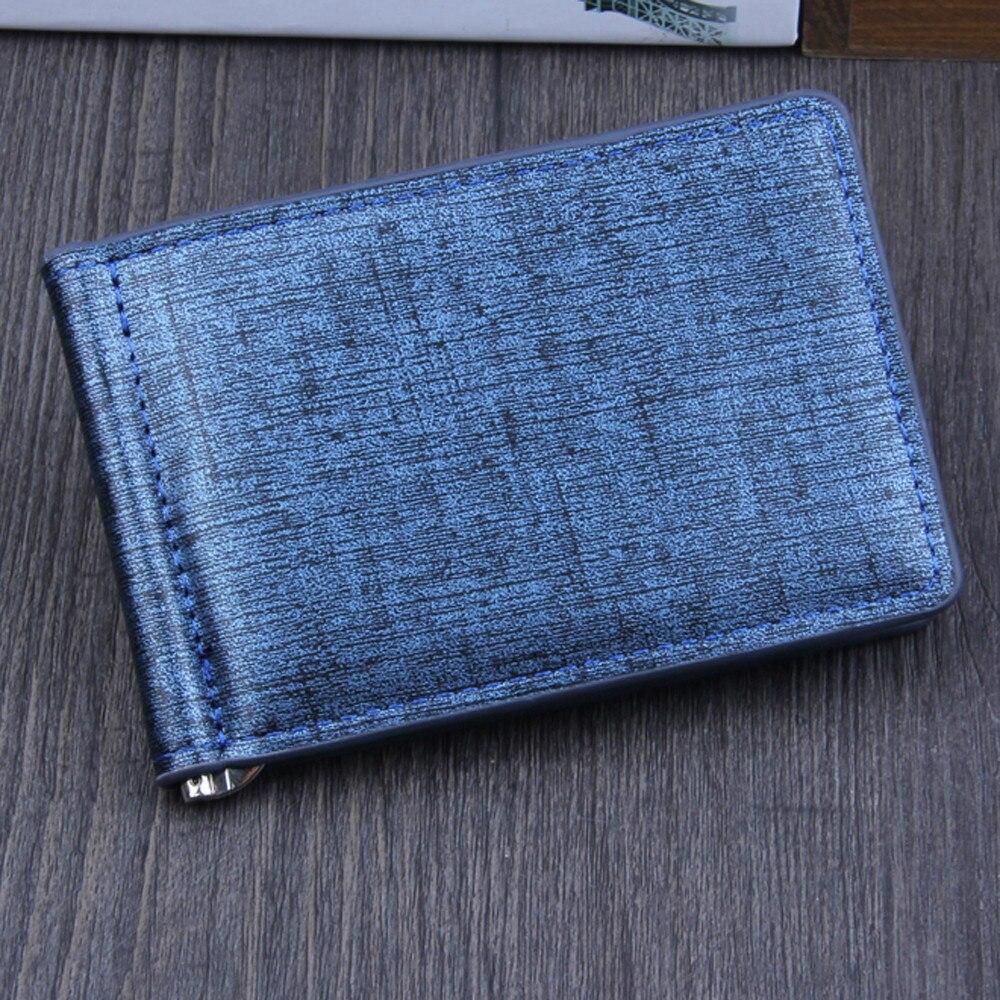 Thin Bifold Wallet ID Credit Card Case  Multifunctional Solid Men's Money Clip Slim Leather Money Cash Holder Purse