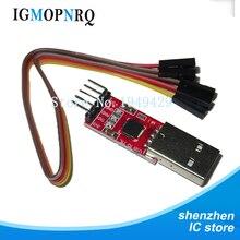 1 módulo CP2102 USB a TTL serie UART STC cable de descarga PL2303 Super Actualización de línea de cepillo (rojo)