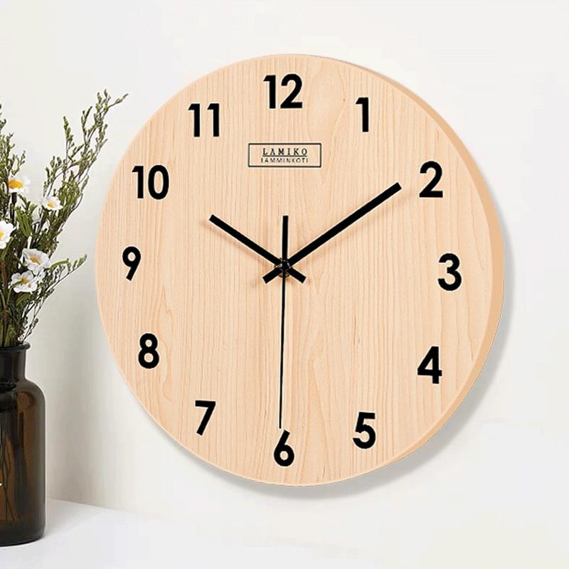 Clocks Wall Clock Wood Silent Watch Home Living Room Wooden Wall Watches Home Decor Kitchen Clock Duvar Saati Gift Ideas Fz237 Wall Clocks Aliexpress