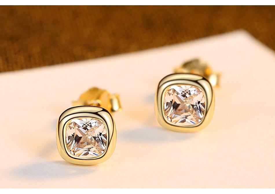 新品详情页_05 - Gem &amp, Time Minimaliste, 925 En Argent Sterling, Cubique Zircon Boucles D'oreilles,
