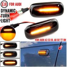 2X LED Dynamic Side Marker Turn Signal Lights Indicator Lamps 8n0 949 127a For Audi A3 S3 8L 00 03 A8 D2 99 02 TT 8N 00 06