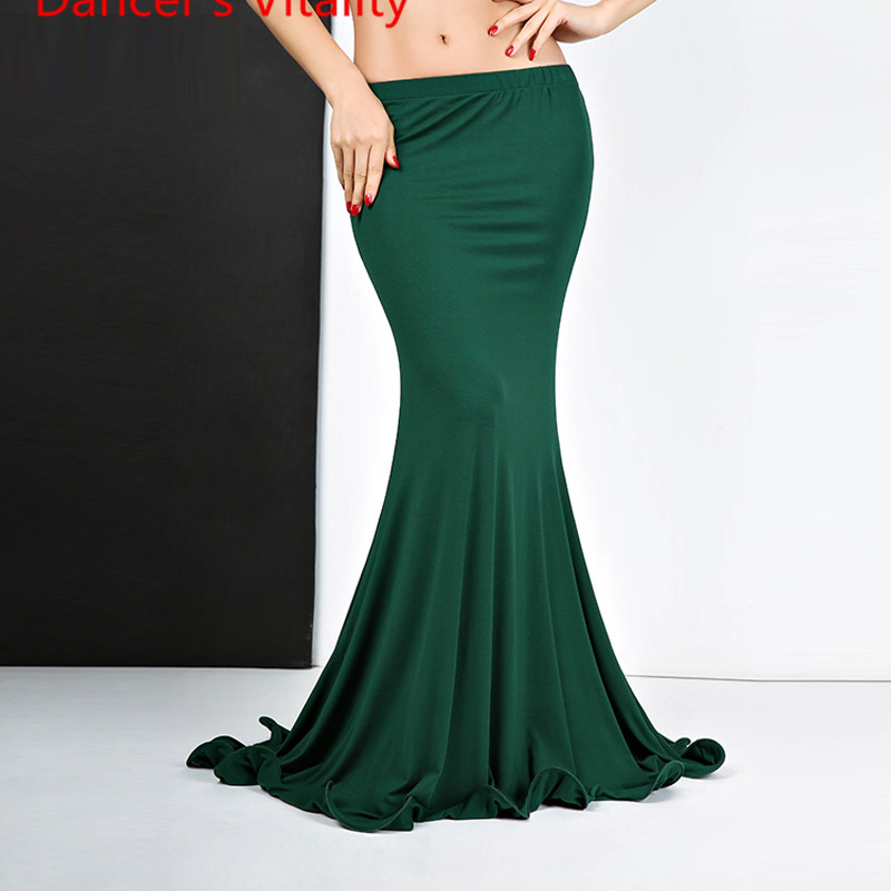 New Fashion Skirt Sexy Belly Dance Fishtail Skirt Girls Bellydance Clothes Dress M,L Green,red,black