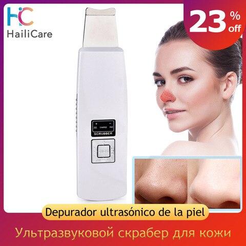 Ultra s nico purificador da pele esp tula cravo remo o poros limpador facial profunda