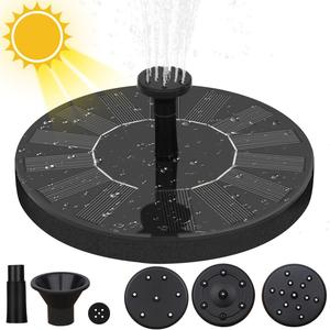 Solar Powered Fountain Garden Pool Pond Decoration Solar Panel Floating Fountain Water Pump Outdoor Bird Bath Fountain(China)