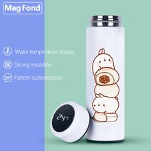 ANIME 500ML Thermos Vacuum Flasks Temperature Display Stainless Steel Water Bottle Travel Coffee Tea Milk Mug Thermoes Cup Warm stainless steel thermoes vacuum flasks insulation mug cup fashion popular mug travel thermoses coffee and lovers cups 320ml