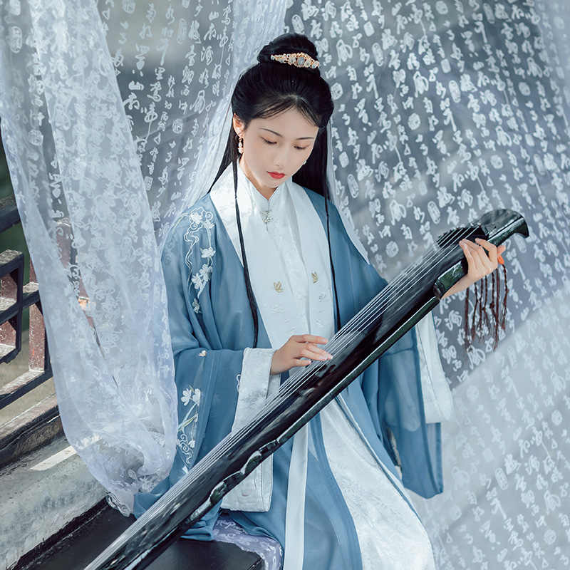 Phụ Nữ Khiêu Vũ Cổ Điển Trang Phục Phương Đông Hanfu Thêu Cổ Tích Đầm Lễ Hội Trang Phục Rave Hiệu Suất Quần Áo Cổ Mặc DF1083